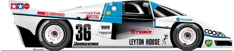 Toyota-1985-84C-n36 Le Mans