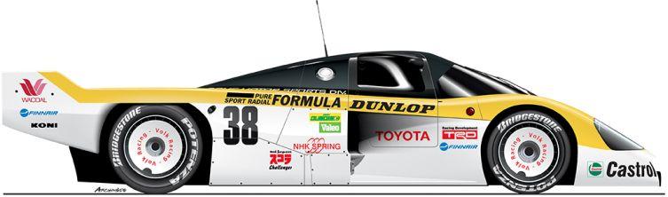 Toyota-1986-86C-n36 Le Mans