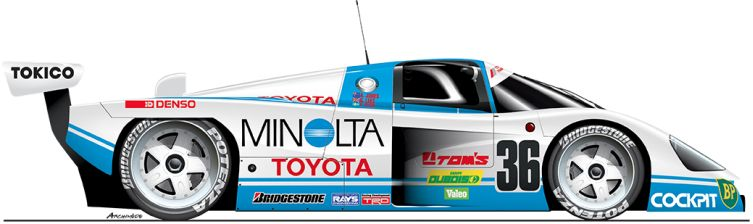 Toyota-1988-88C-n36 Le Mans