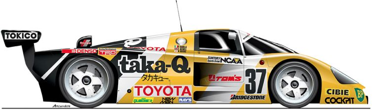 Toyota-1988-88C-n37 Le Mans