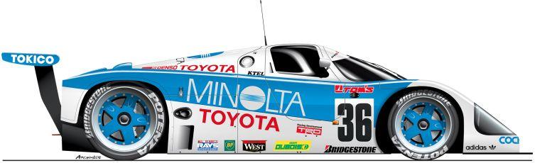 Toyota-1989-89C-n37 Le Mans
