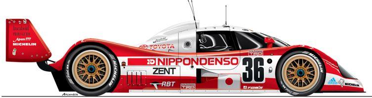 Toyota-1993-TS 010-n36 Le Mans