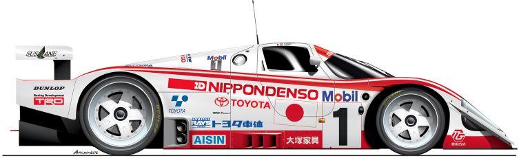 Toyota-1992-92C-n34 Le Mans