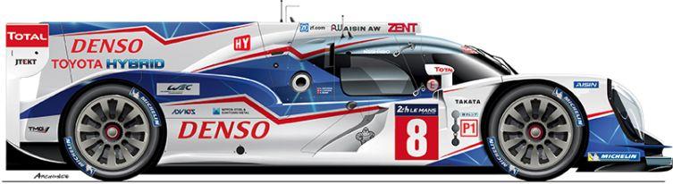 Toyota-2014-TS 040-LMP1-n8 Le Mans