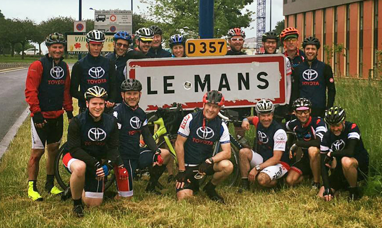 Charity ride to Le Mans