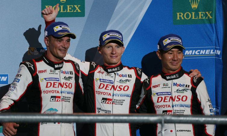 Stephane Sarrazin (FRA) Mike Conway (GBR) and Kamui Kobayashi (JPN) Toyota Racing TS050 World Endurance Championship. 6 Hours of Circuit of The Americas Circuit of The Americas, Austin, Texas, USA. 14th-17th September 2016