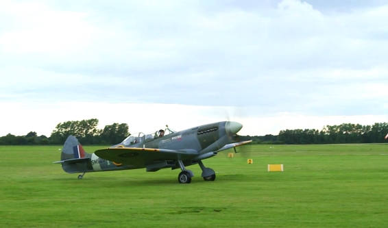 Spitfire at Goodwood Aerodrome