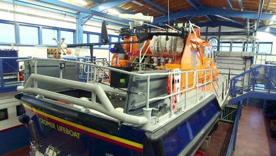 Billy's Britain: Tamar-class lifeboat at RNLI Cromer