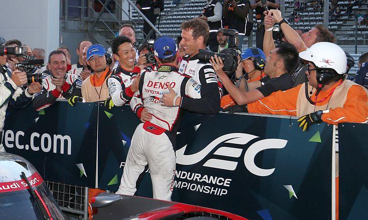 Kamui Kobayashi (JPN) and Alex Wurz (AUT) Toyota Racing TS050 World Endurance Championship. 6 Hours of Fuji Fuji Speedway, Japan 13th-16th October 2016