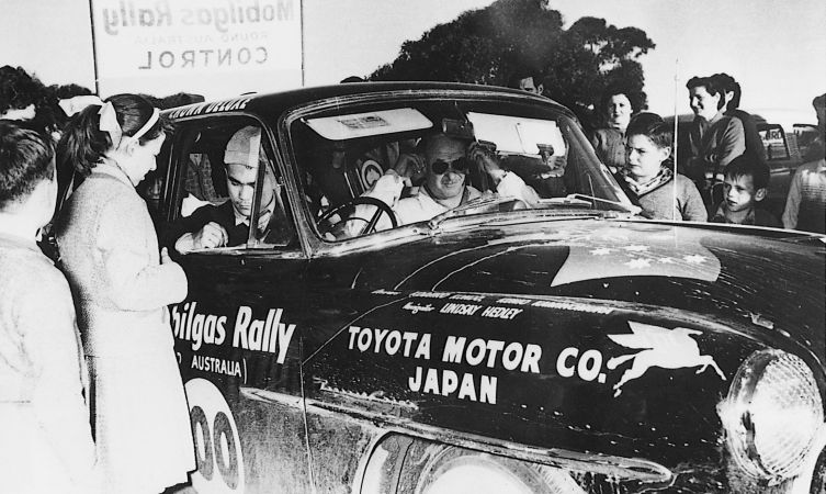 Crown which competed inthe Australian Rally in 1958.