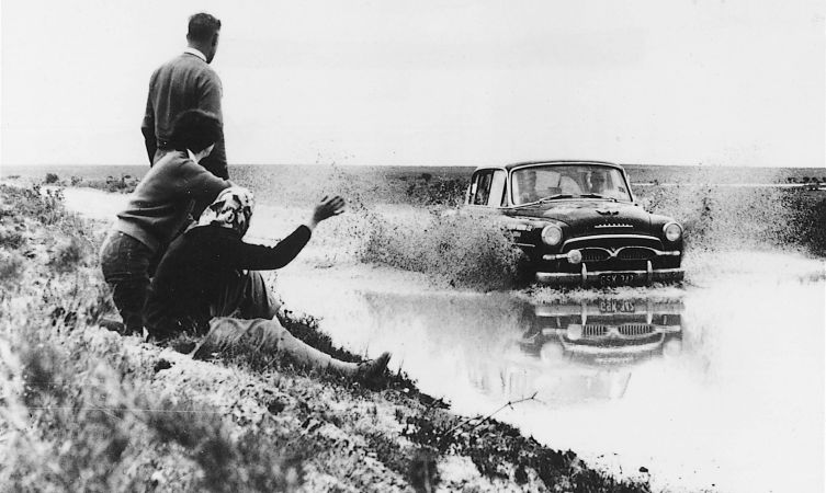 Crown competing in the Australian Rally