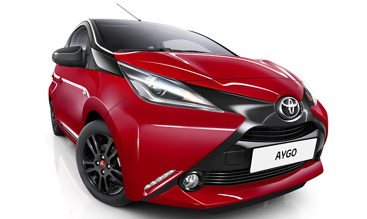 new aygo x cite gets red hot this summer toyota. Black Bedroom Furniture Sets. Home Design Ideas