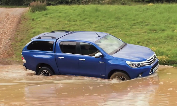 Toyota Hilux Wading through Water