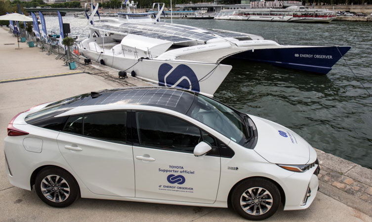 Energy Observer and Toyota Mirai