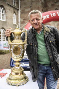 Nicky Grist and the Wales Rally GB trophy