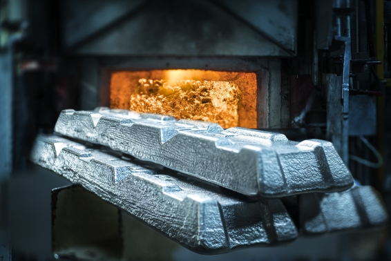 Aluminium ingots at TMUK