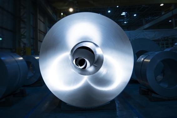 Roll of steel at TMUK, Burnaston