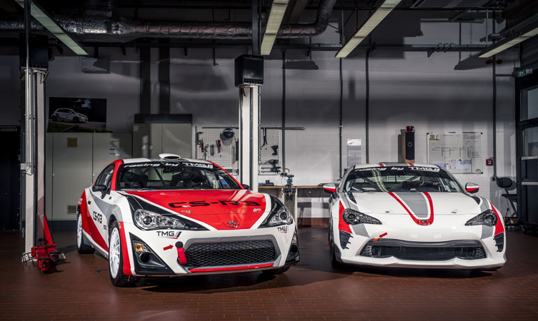 GT86 race and rally cars