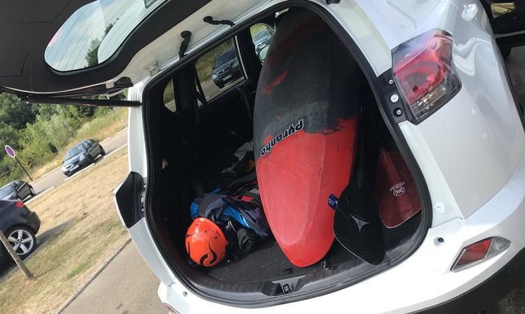 Steve Backshall Toyota RAV4 Hybrid boot