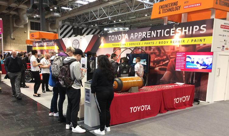 World Skill UK Live Toyota stand