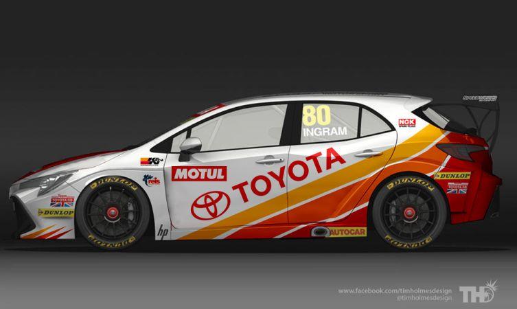 New Toyota Corolla BTCC racing car reimagined with retro