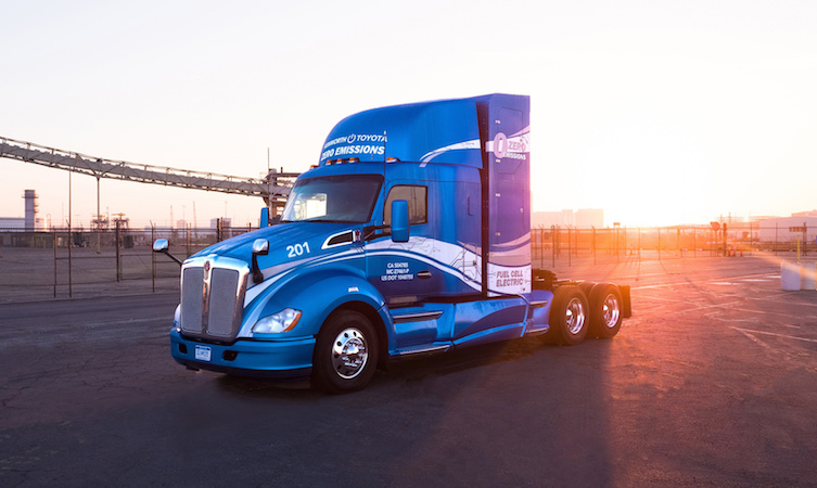 Hydrogen fuel cell Toyota Kenworth