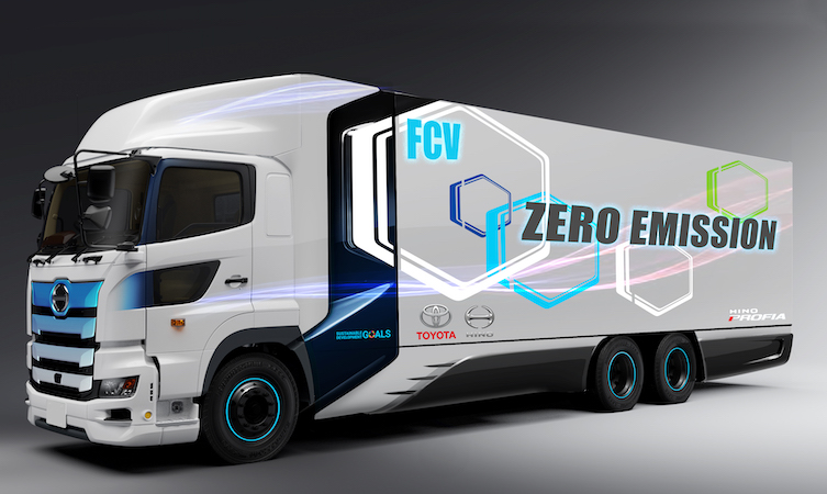 Toyota Hino fuel cell truck