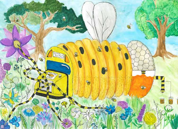 Dream Car Art Contest Winners 2020 - Isla Millen - 'The BeeBus'