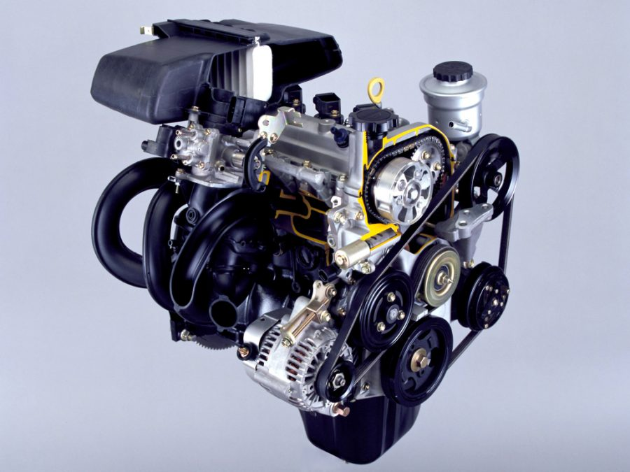 Cutaway of Toyota 1SZ-FE engine