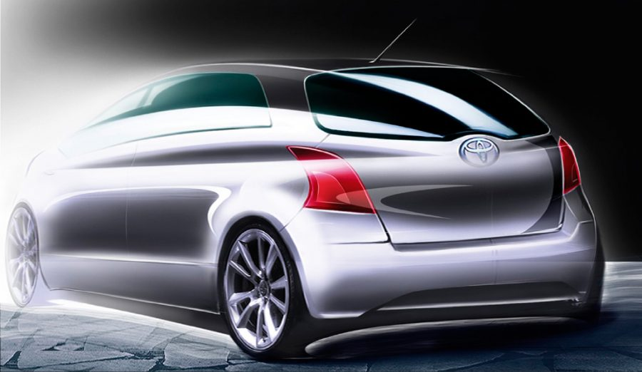 Second-generation Toyota Yaris concept sketch