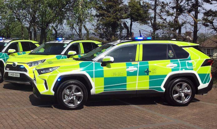 Toyota RAV4 Welsh Ambulance Services NHS Trust