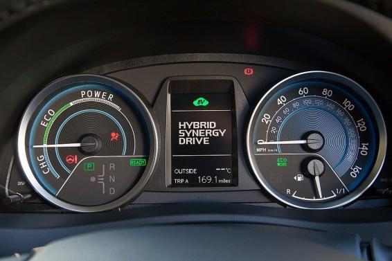 Auris Hybrid 2014 dials