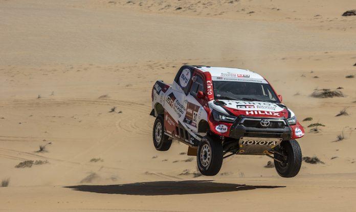 Toyota at the 2021 Dakar