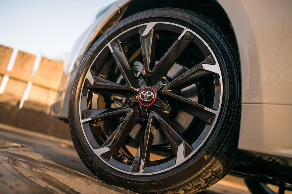 Toyota Tyre Pressure - 2020 Toyota Corolla GR Sport wheel