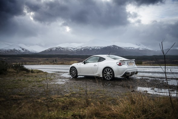 Toyota GT86 TRD snowy mountains