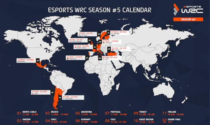 eSports WRC map
