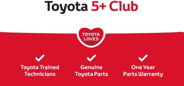 Toyota 5+ Club