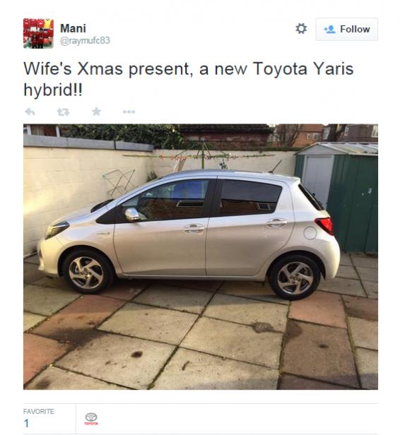 Yaris Hybrid Christmas present