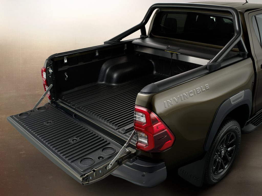 2021 Toyota Hilux Invincible in Titan Bronze - rear deck open