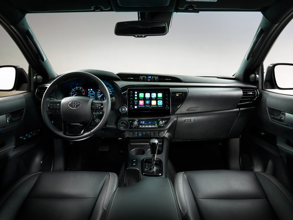 2021 Toyota Hilux Invincible - interior and dashboard