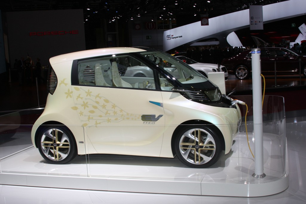 Smaller than the iQ, the FT-EV II concept showcases Toyota's electric vehicle technology
