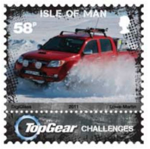 Top Gear Polar Hilux postage stamp