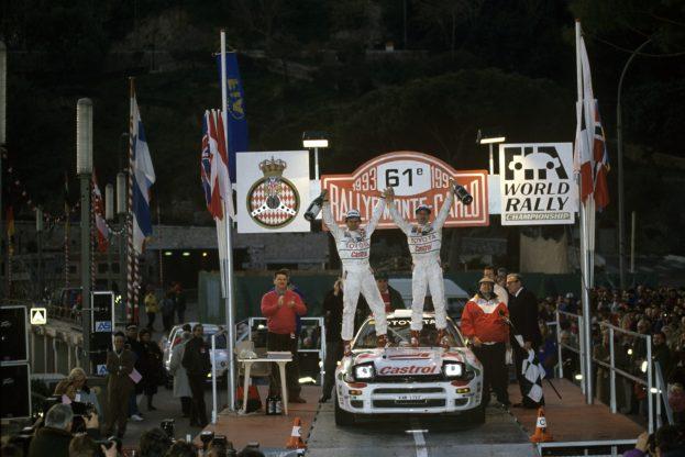 1993 Monte Carlo Rallye, January 21-27 Overall winner: Didier Auriol/Bernard Occelli Toyota Celica ST185 copyrights: Toyota Motorsport GmbH