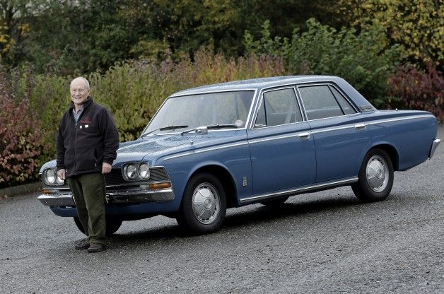 """Peter Hunter, 1968 Toyota Crown: """"it was the very first Toyota Crown imported by Toyota GB in 1968 and was a press demonstrator and is the only one of it's kind left in the country."""""""