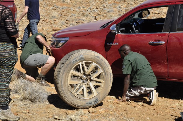 Toyota Hilux puncture