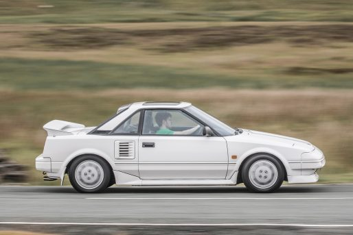 Used Toyota MR2 on road