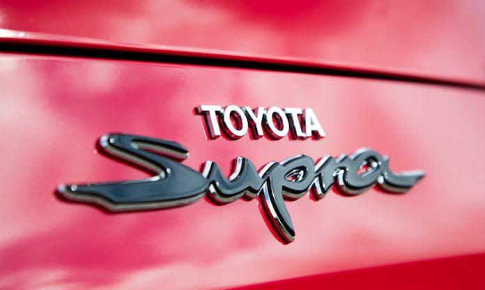 Toyota names of models Supra Badge