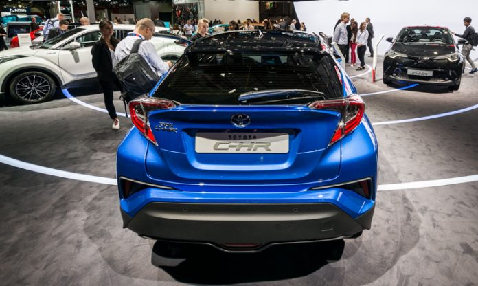 Toyota C-HR at Paris motor show