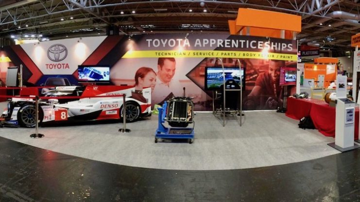 World Skill UK Live Toyota stand