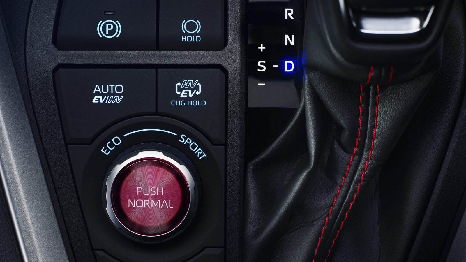 Toyota RAV4 Plug-in Hybrid - buttons on centre console